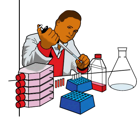 Lab technician clipart.