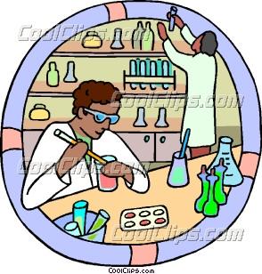 Blood Lab Technician Clip Art.