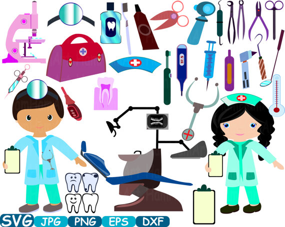 Medic Dentist SVG Cricut Silhouette Props Cutting Files Awareness.
