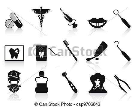 Dental tools clipart.