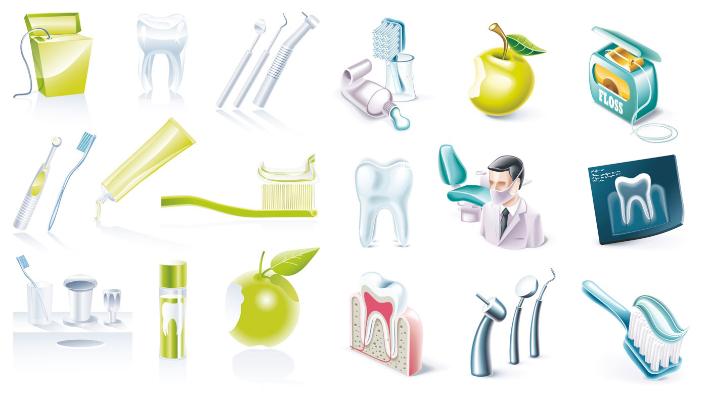 Dental hygienist clipart tools.