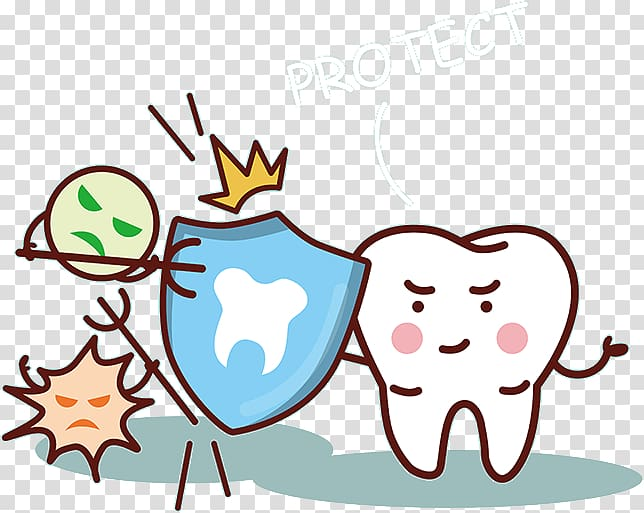 White tooth , Tooth enamel Dentistry Tooth decay, Cartoon.