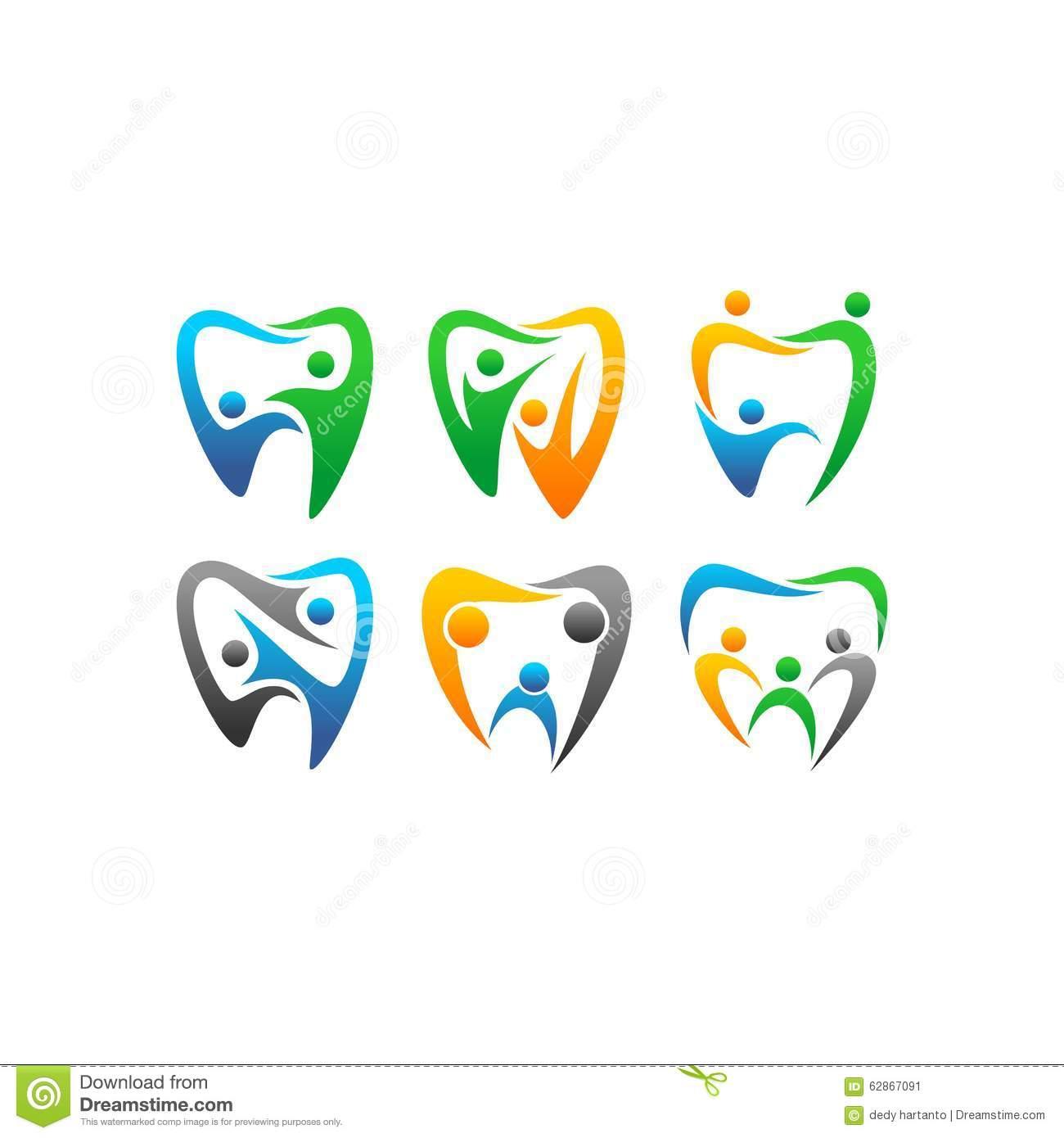 La Gente Di Clipart Di Vettore Dentaria Illustrazione Vettoriale.