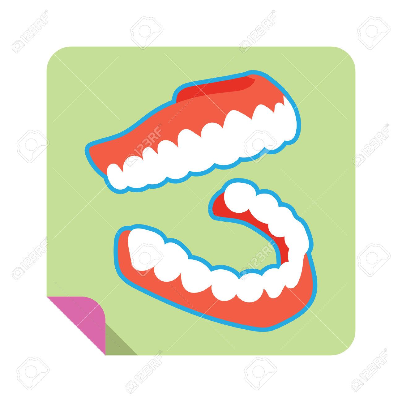 Una Protesi Dentaria Clipart Royalty.