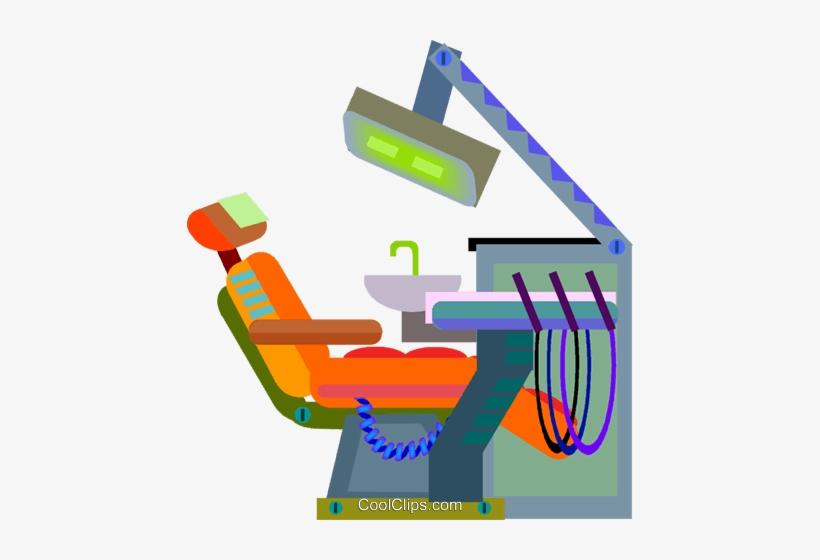 Dentist Chair Royalty Free Vector Clip Art Illustration.