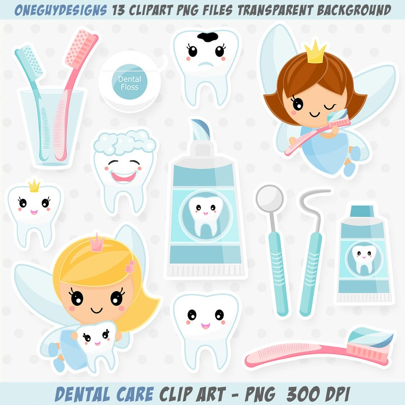 Dental Clipart, Dentist graphics, toothbrush, toothpaste and cute tooth  fairy graphics..