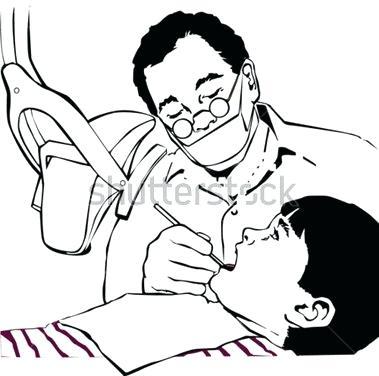 Dentist Clipart Black And White.