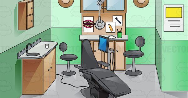 Inside A Green Dental Room.