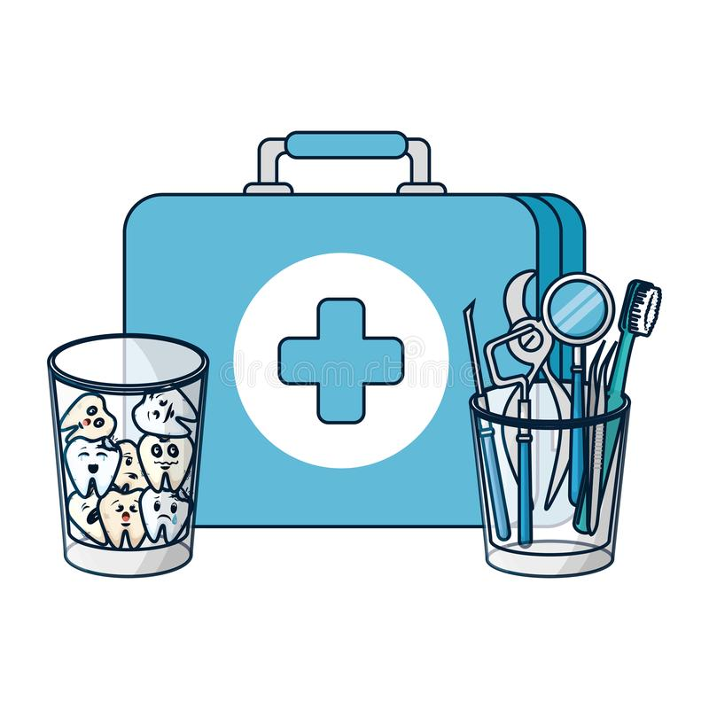 Dentist Tools Stock Illustrations.