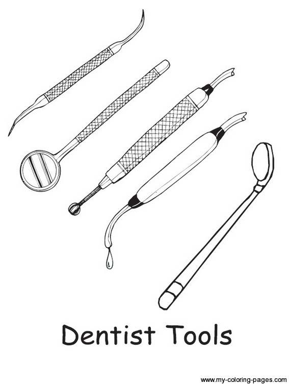 Dentist Tools Clipart Black And White Clipground