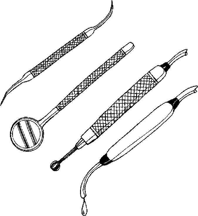 Dentist Tools Clipart Black And White
