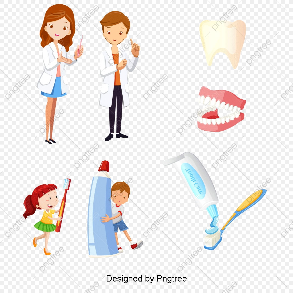 Vector Dentist And Child, Vector Doctor, Character, Child PNG.
