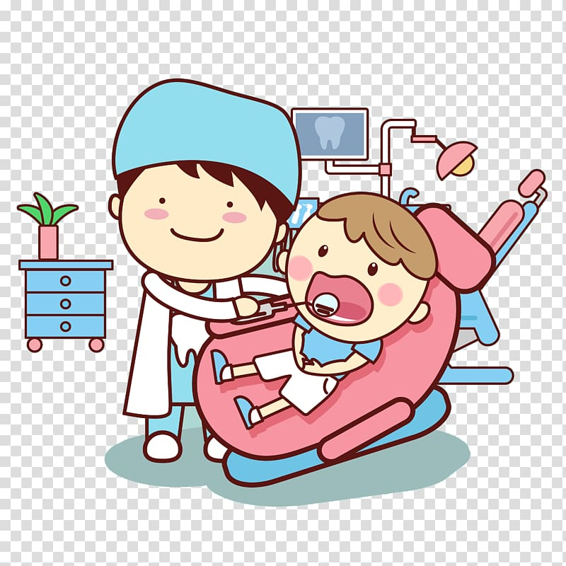 Dental illustration, Dentistry Tooth Cartoon , Cartoon dentist.