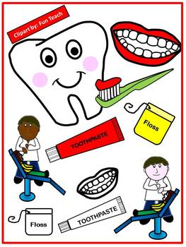 Dental Health Clip Art for Personal and Commercial Use.