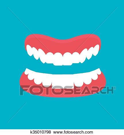 Cartoon Dental technology false teeth. Clip Art.