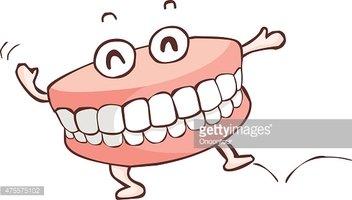 Happy Denture Dancing Show Vector stock vectors.