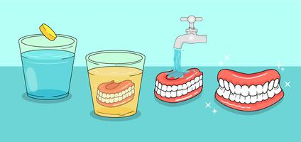 Denture Free Vector Art.