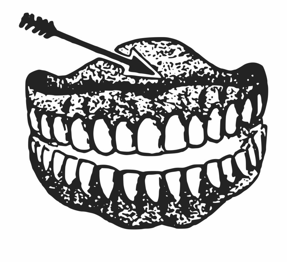 This Free Icons Png Design Of Dentures Teeth With Arrow.