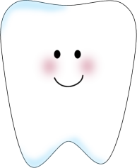 Tooth clip art template for the front of a tooth pillow. Put.