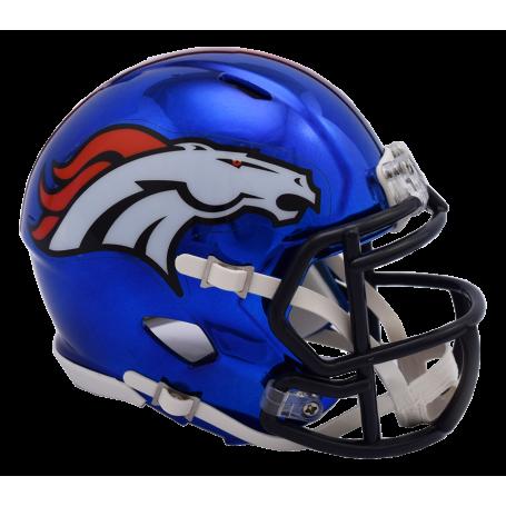 Denver Broncos Chrome Mini Speed Replica Helmet.