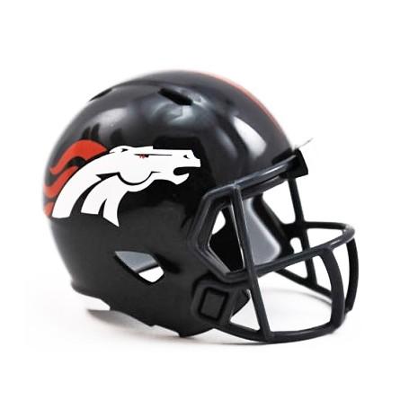 Denver Broncos Riddell NFL Speed Pocket Pro Helmet.