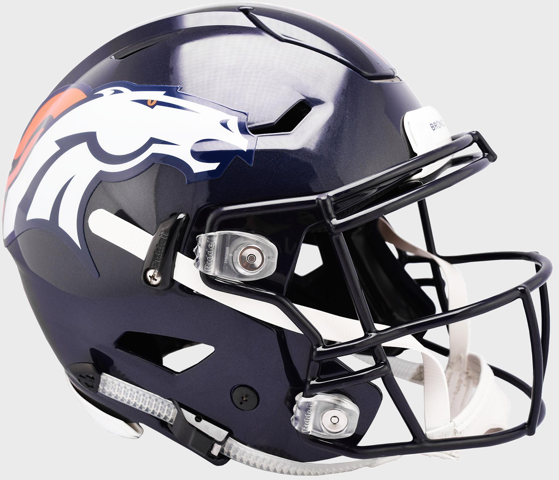 Denver Broncos SpeedFlex Football Helmet.