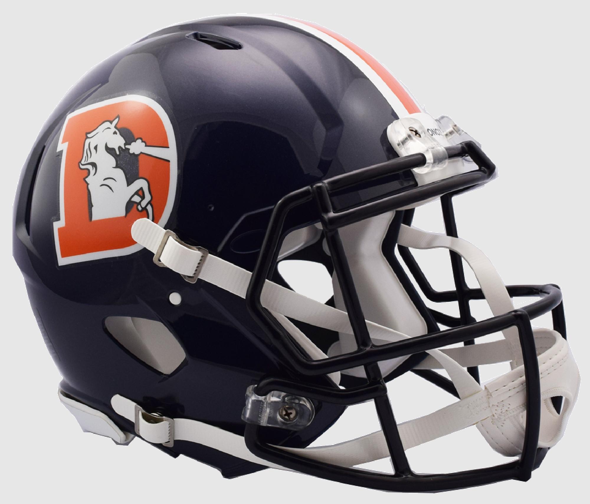 Denver Broncos Color Rush Speed Football Helmet.