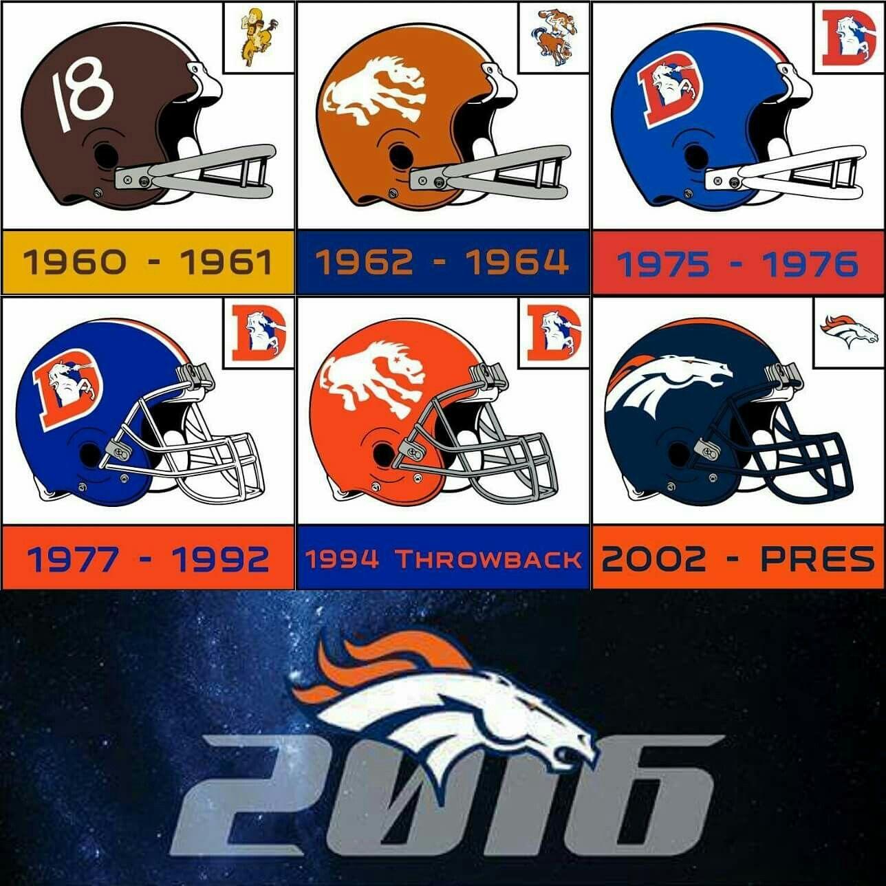 Denver Broncos logo history.