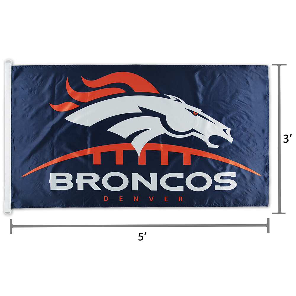 NFL Denver Broncos Logo Team Flag 3\' x 5\'.