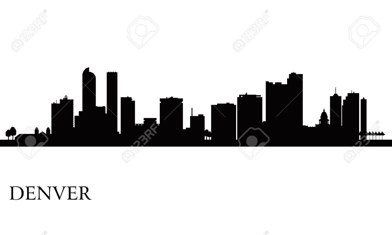 Denver skyline clipart.