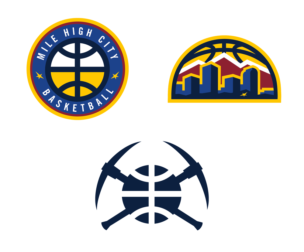 Brand New: New Logos for Denver Nuggets.