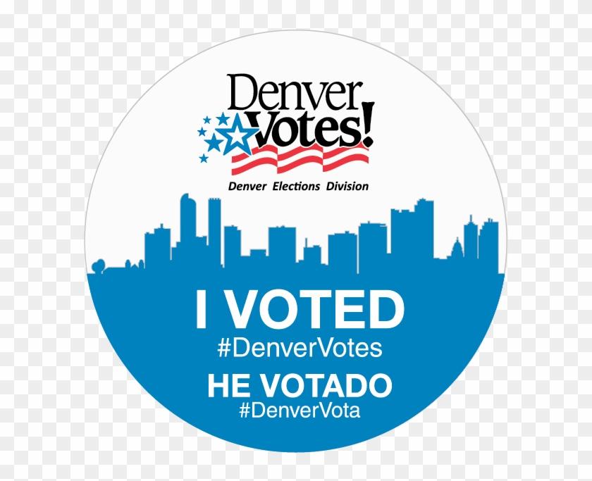 Denver I Voted Sticker , Png Download.