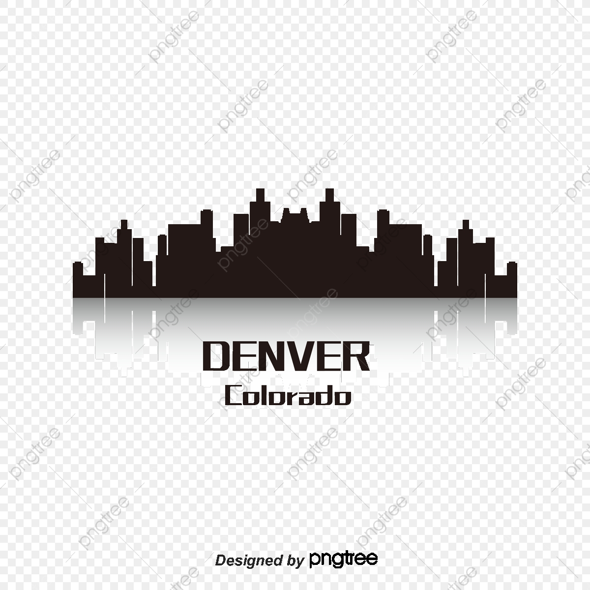 Denver, City Silhouette, City, High Rise PNG and Vector with.