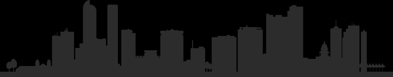 Denver Skyline Silhouette Royalty.