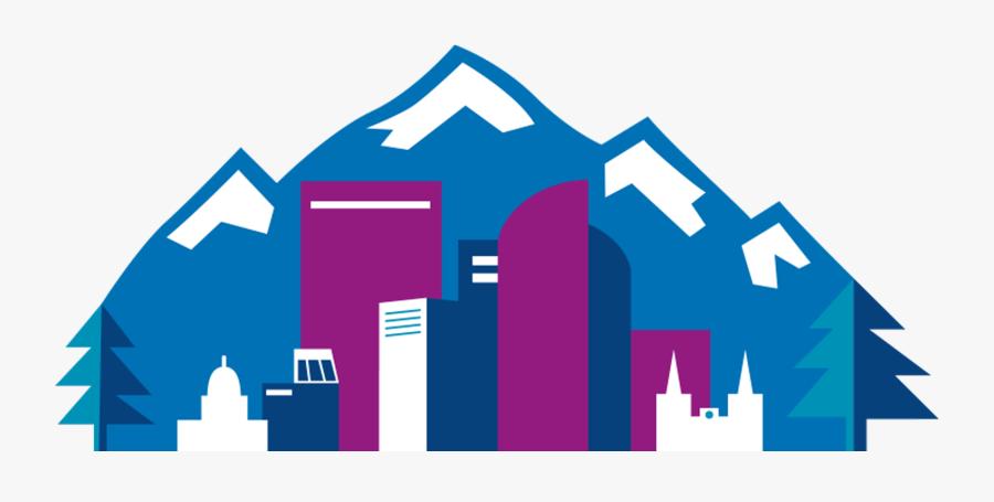 Denver Skyline Line Drawing , Free Transparent Clipart.