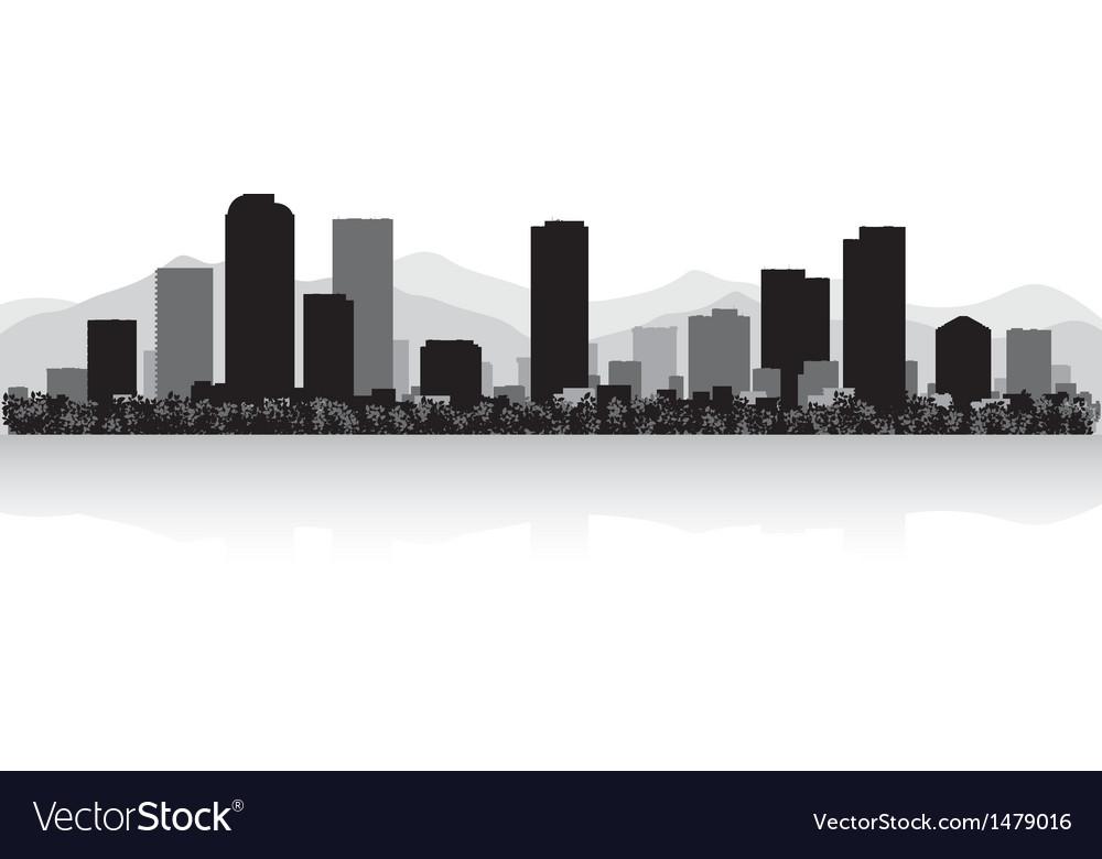 Denver City Skyline Silhouette Vector Free.