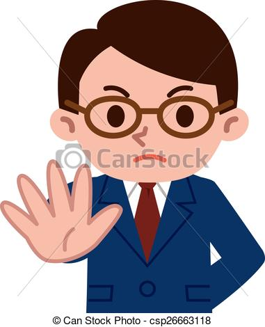 Vector Clip Art of Deny young businessman.