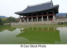 Stock Photos of Winter landscape in south korea Deoksugung Palace.