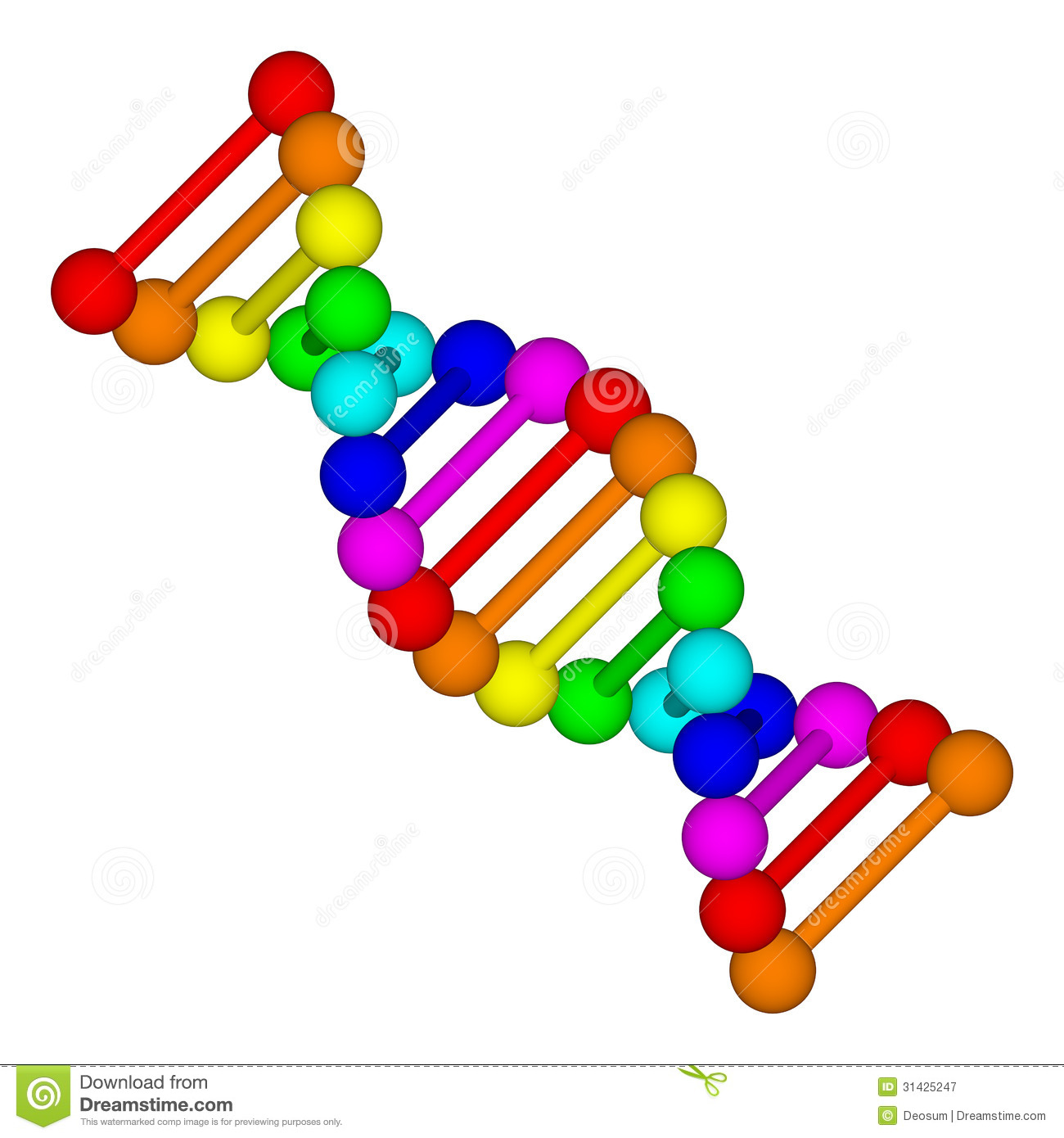 Rainbow DNA Logo.