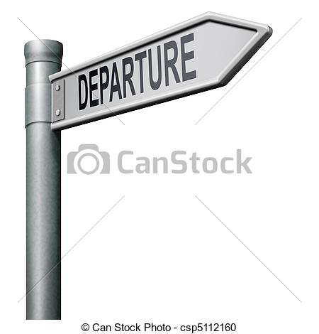 Stock Illustration of departure road sign arrow strating point of.