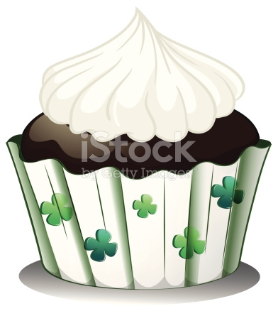 Chocolate Cupcake With White Icing stock vector art 454358069.