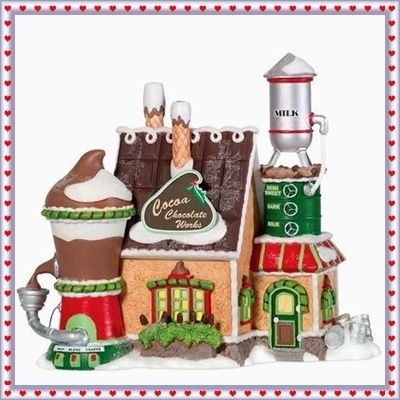 Dept 56 North Pole Cocoa Chocolate Works.