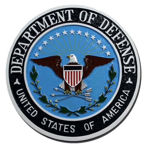 Department of Defense Dod Seal / Podium Plaque.