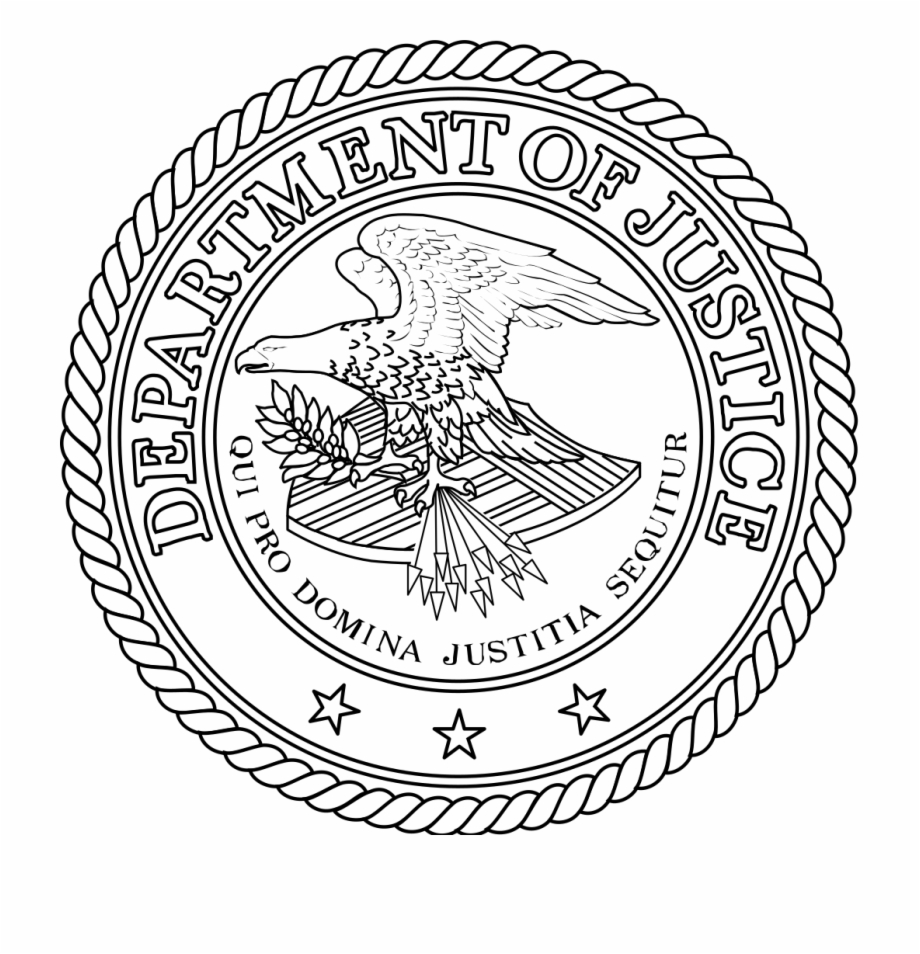 Seal Of The United States Department Of Justice Outline.