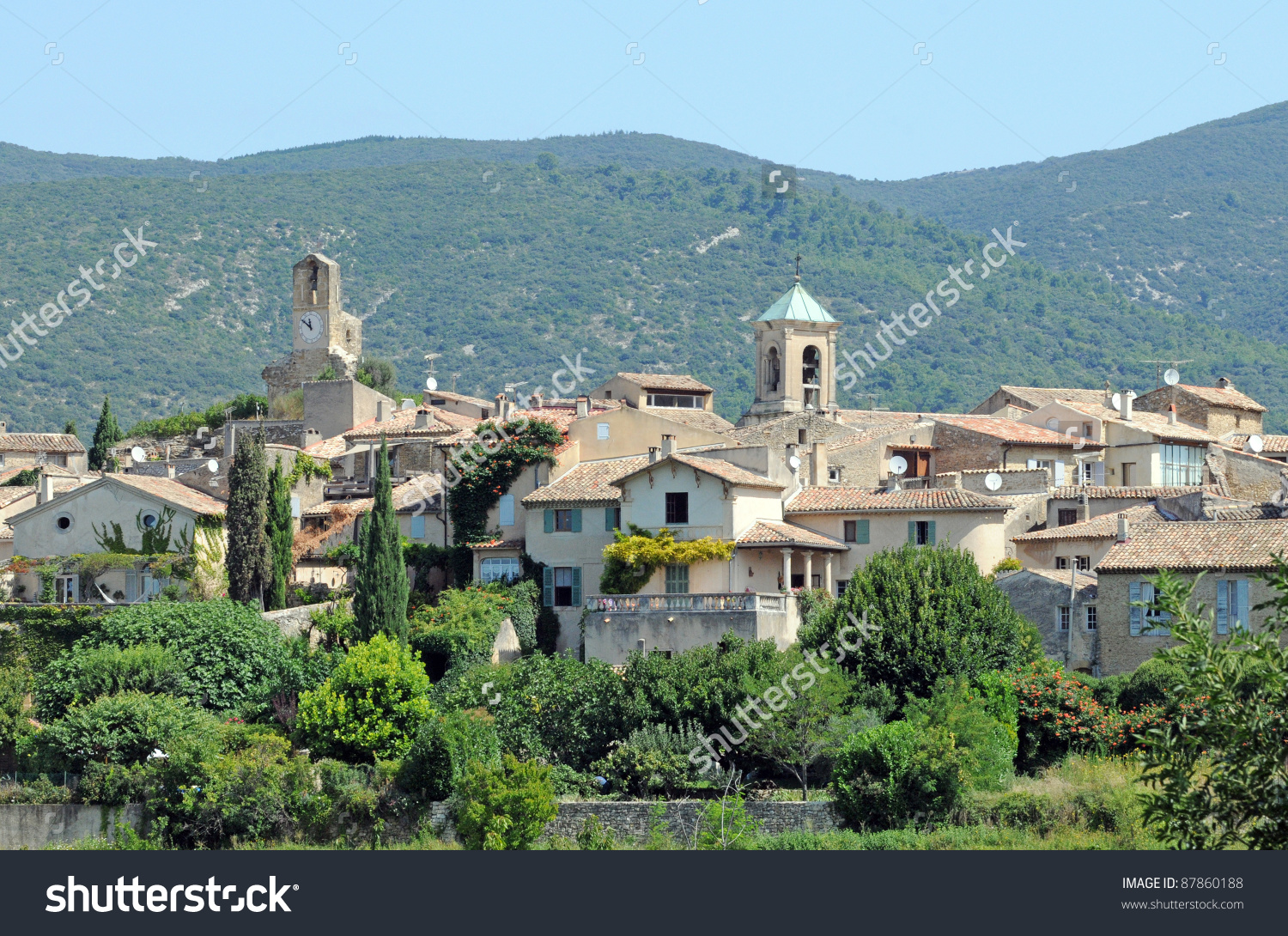 View On Lourmarin Village, Vaucluse Department, Provence Region In.