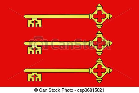 Stock Photo of Flag of Avignon, France.
