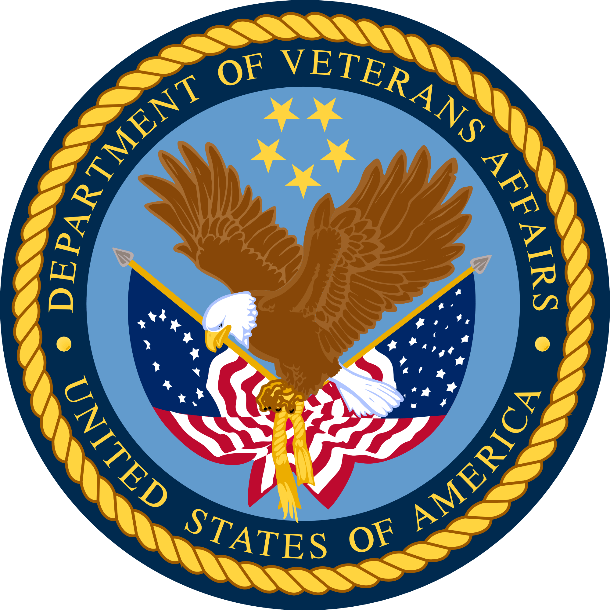 Seal of the United States Department of Veterans Affairs.