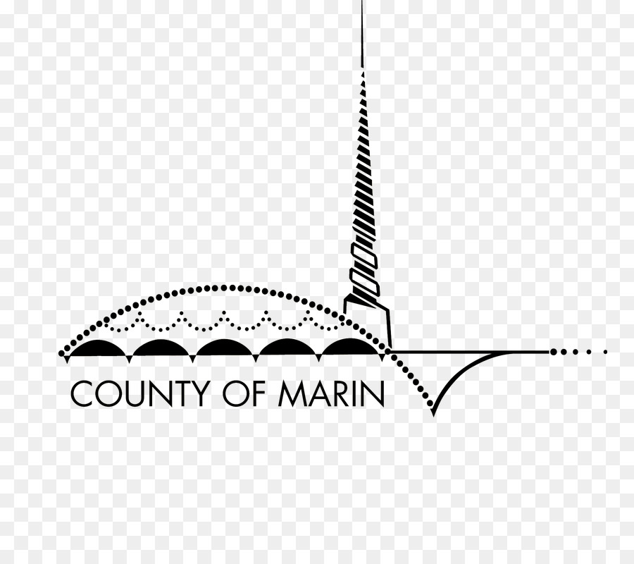 Marin County Public Works Department White png download.