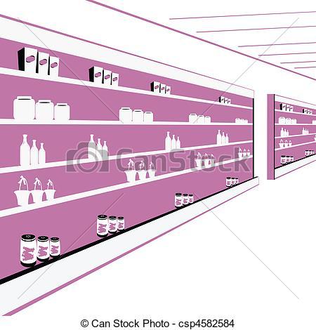Drawing of departmental store.