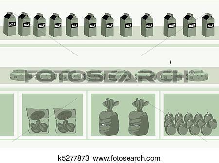 Drawing of departmental store k5277873.